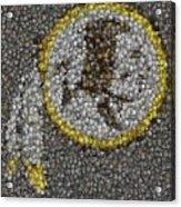 Washington Redskins Coins Mosaic Acrylic Print by Paul Van Scott