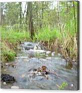 Water Flows After A May Rain Acrylic Print by Kent Lorentzen