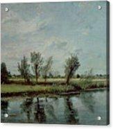 Water Meadows Near Salisbury Acrylic Print by John Constable