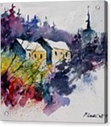Watercolor 231207 Acrylic Print by Pol Ledent