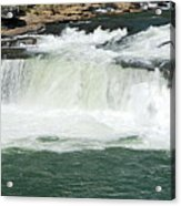 Waterfall At Ohiopyle State Park Acrylic Print by Larry Ricker