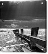 Wave Defenses Acrylic Print by Meirion Matthias