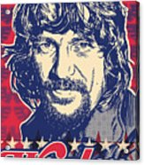 Waylon Jennings Pop Art Acrylic Print by Jim Zahniser