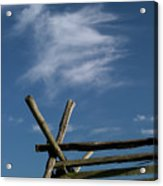 Weathered Fence Acrylic Print by Judi Quelland