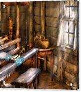 Weaver - The Weavers Room Acrylic Print by Mike Savad