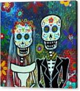Wedding Muertos Acrylic Print by Pristine Cartera Turkus