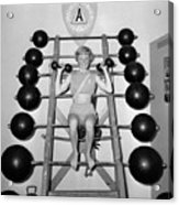 Weightlifting Woman Acrylic Print by Evans