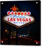 Welcome To Las Vegas Acrylic Print by Steve Gadomski