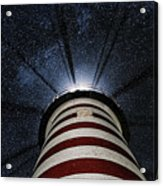 West Quoddy Head Lighthouse Night Light Acrylic Print by Marty Saccone