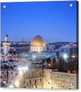 Western Wall And Dome Of The Rock Acrylic Print by Noam Armonn