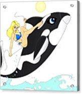 Whale Rider Acrylic Print by Lynn Rider