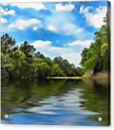 What I Remember About That Day On The River Acrylic Print by Wendy J St Christopher
