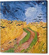 Wheatfield With Crows Acrylic Print by Vincent van Gogh