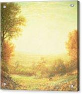 When The Sun In Splendor Fades Acrylic Print by John MacWhirter