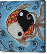 Whimsy Fish 3 Yin And Yang Acrylic Print by Rain Ririn