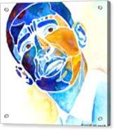 Whimzical Obama Acrylic Print by Jo Lynch