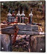 Whiskey And Guns Acrylic Print by Leland D Howard
