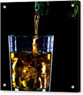 Whiskey Being Poured Acrylic Print by Richard Thomas