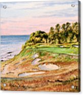 Whistling Straits Golf Course 17th Hole Acrylic Print by Bill Holkham