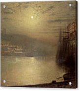 Whitby Acrylic Print by John Atkinson Grimshaw