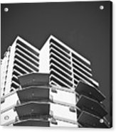 White Building To The Sky In Oahu Hawaii Acrylic Print by Ryan Kelly