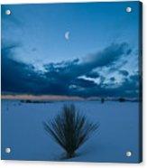 White Sands Moonrise Acrylic Print by Steve Gadomski