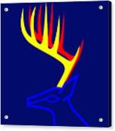 White Taled Deer Acrylic Print by Asbjorn Lonvig