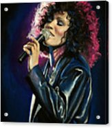 Whitney Houston Acrylic Print by Tom Carlton