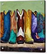 Why Real Men Want To Be Cowboys Acrylic Print by Frances Marino
