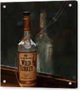Wild Turkey In Window Acrylic Print by Brenda Bryant