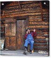 Wilderness Cabin Alaska Acrylic Print by Jennifer Crites