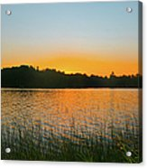 Wilderness Point Sunset Panorama Acrylic Print by Gary Eason