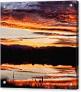 Wildfire Sunset Reflection Image 28 Acrylic Print by James BO  Insogna