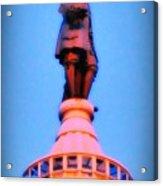 William Penn - City Hall In Philadelphia Acrylic Print by Bill Cannon