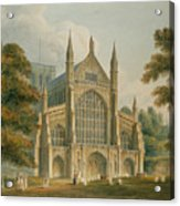 Winchester Cathedral Acrylic Print by John Buckler