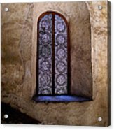 Window In Lace Acrylic Print by Mexicolors Art Photography