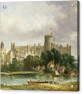 Windsor Castle - From The Thames Acrylic Print by Alfred Vickers