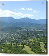 Windward Oahu Panorama I Acrylic Print by David Cornwell/First Light Pictures, Inc - Printscapes