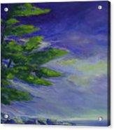 Windy Lake Superior Acrylic Print by Joanne Smoley