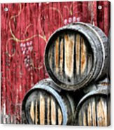 Wine Barrels Acrylic Print by Doug Hockman Photography