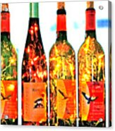 Wine Bottle Lights Acrylic Print by Margaret Hood