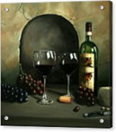 Wine For Two Acrylic Print by Paul Walsh