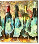 Wine On The Town Acrylic Print by Marilyn Sholin