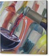 Wine Pour Acrylic Print by Donna Tuten