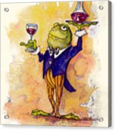 Wine Steward Toady Acrylic Print by Peggy Wilson