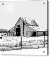 Winter Barn Acrylic Print by Lyle Brown