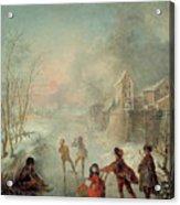 Winter Acrylic Print by Jacques de Lajoue