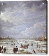 Winter Landscape Acrylic Print by Aert van der Neer