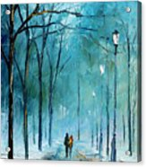 Winter Acrylic Print by Leonid Afremov