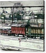Winter Transport Acrylic Print by Wim Lanclus